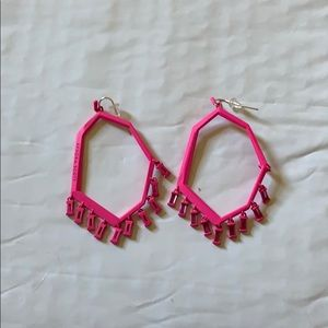 Kendra Scott dark pink statement earrings